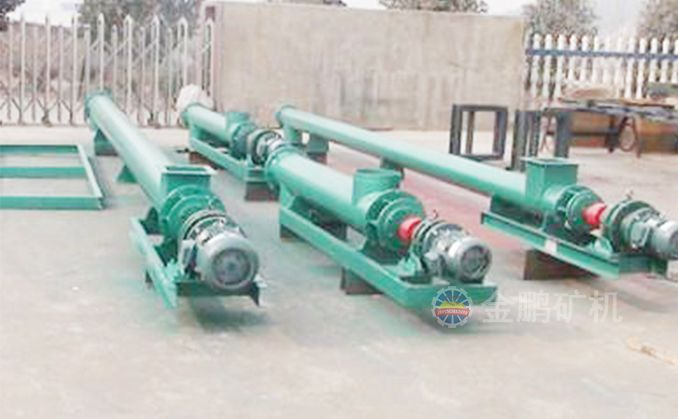 Single-pipe spiral feeder